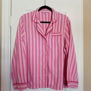 Victoria's secret pink pajama top, size large